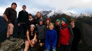 Group photo on the ridgeline